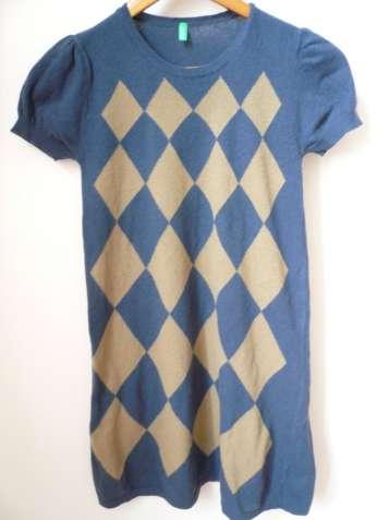 Платье Benetton синее б/у