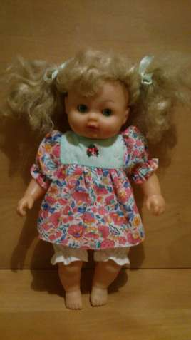 Кукла плачущая с соской