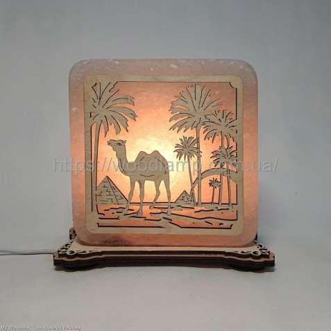 Соляной светильник квадратный Верблюд, соляная лампа, ночник