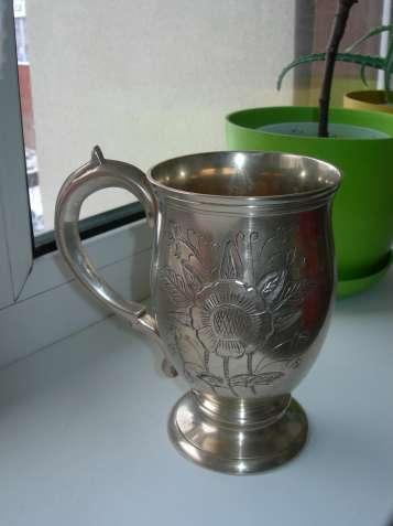 Бокал, бронза, бронзовый с серебрением, Англия, клеймо