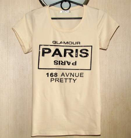 Замечательная футболка с камнями, М/L, р. 48-50, новая!
