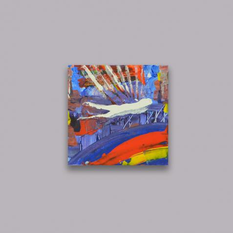 """Продам картину абстракцію """"Пролітаючи на мегаполісом"""" (2018)"""