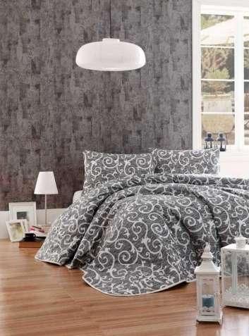 Покрывало Eponj Home B&W Merle siyah 200×220 стеганное