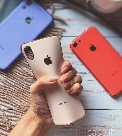Силіконовий гнучкий чохол silicone glass case для iphone