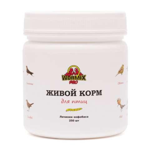 Живой корм для птиц - Зофобас 250 шт.