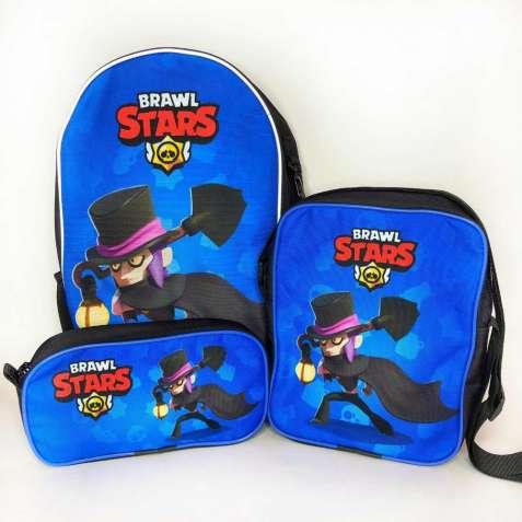 Набор рюкзак ( ранец ), сумка и пенал Мортис Mortis Brawl stars Бравл