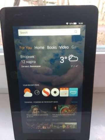 Продам планшет Amazon Fire 7 IPS QuadCore 1Gb 8Gb,как новый.