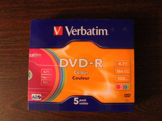 Диски DVD-R Verbatim 4.7Gb 5шт./упаковка