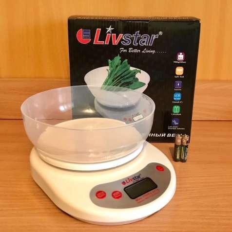 Электронные кухонные весы с чашей до 7 кг