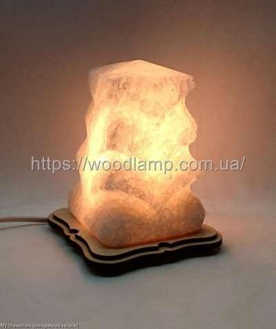 Соляной светильник Елка маленькая резная, лампа, ночник