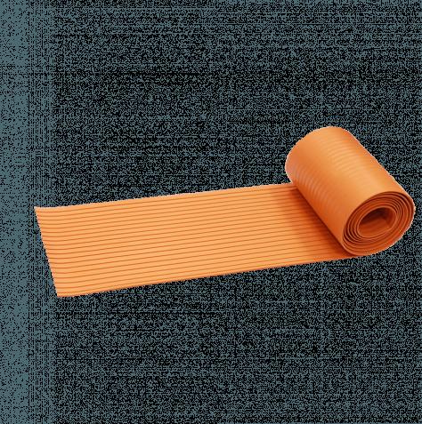 Лента противоскользящая резиновая(300 см х 19,5 см) Оранжевая