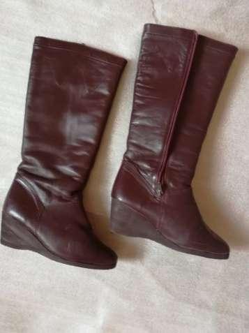 Нові жіночі зимові шкіряні чоботи