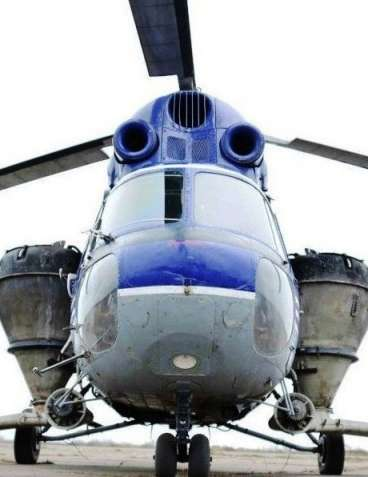 Вертолет для подкормки рапса и пшеницы