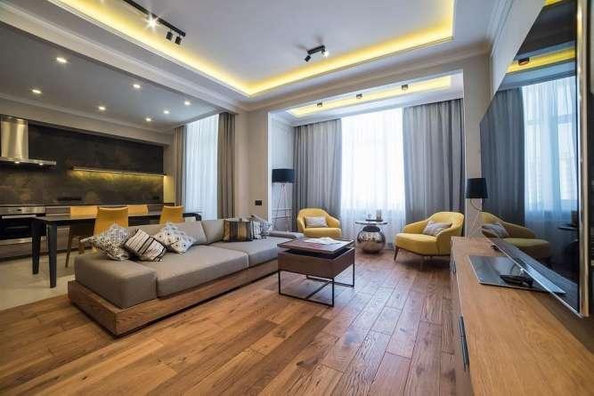 Стильная квартира на видовом этаже в новом комплексе на Печерске.