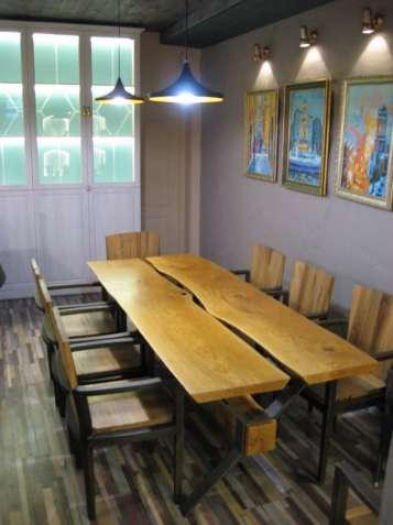 Стол лакированный Лофт 230*90 и комплект из 8 стульев