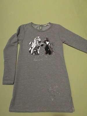 Детская туника для девочек 6-9 лет двунитка Турция