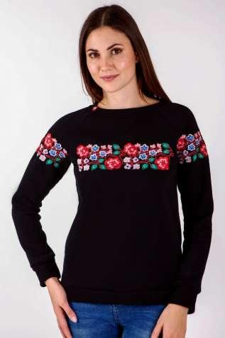 Світшот жіночий з дизайнерською вишивкою be450562fb32d