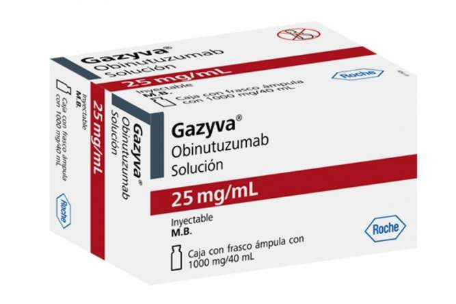 Газива Газиваро обинутузумаб 1000 мг Германия оригинал Gazyva Gazyvaro