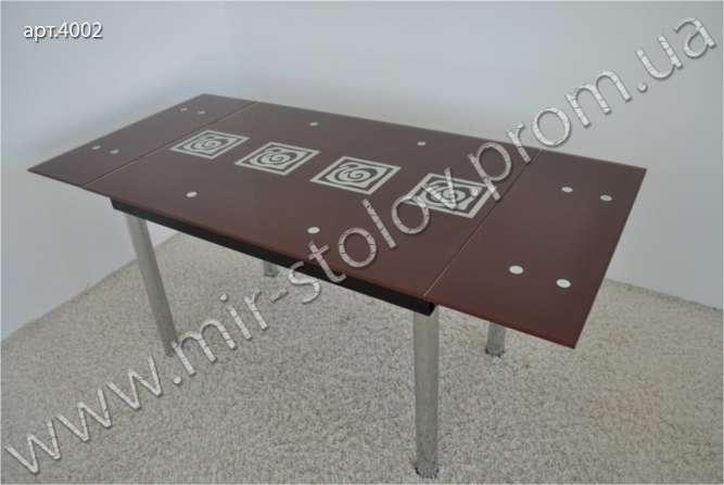 Раскладной стеклянный стол Maxi Dt tr 1100/800