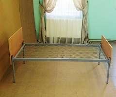 """Кровать одноярусная с деревянными быльцами """"Монро"""""""