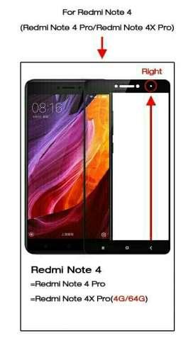 Защитное полноэкранное стекло к Xiaomi Redmi Note 4, 4Pro, 4X Pro