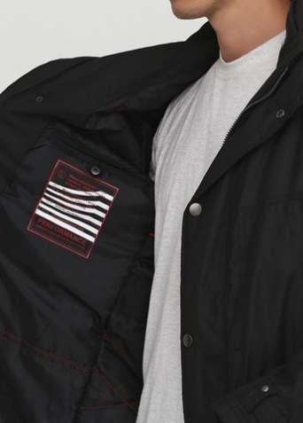 """Куртка """"C.Comberti"""" удлиненная черная - зображення 3"""