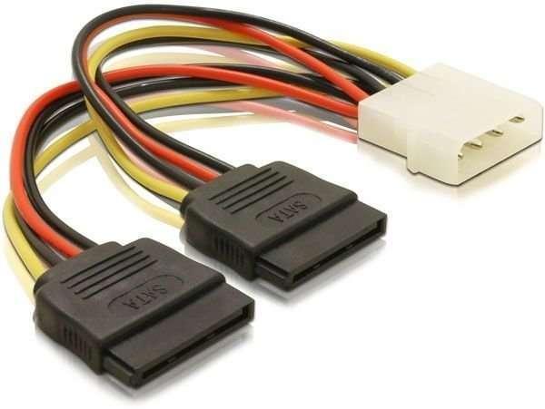 Переходники питания для HDD SSD жестких дисков IDE Molex to 2x SATA