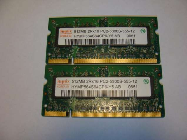 Продам память Hynix 1GB(512х2) 2Rx16 PC2-5300S-555-12
