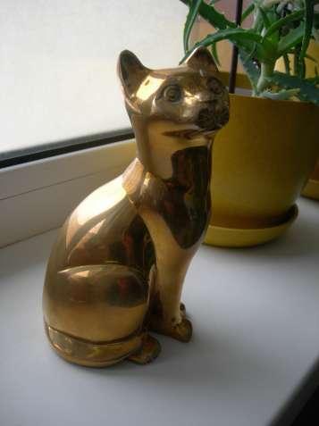 Кот, кошка, бронза, Англия, большая