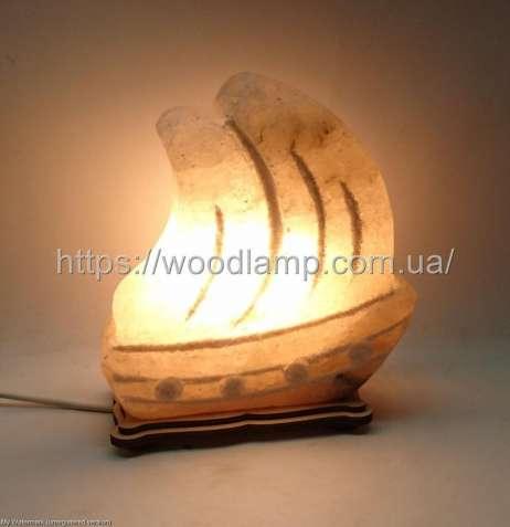 Соляной светильник Кораблик большой 3д, лампа, ночник