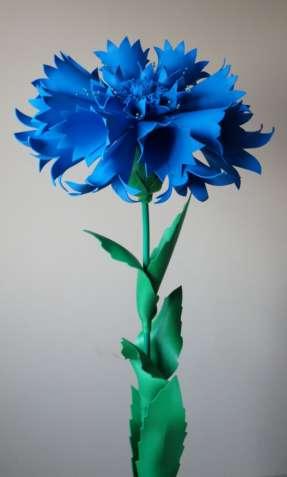 Василек с фоамирана (ростовые цветы) ПРОДАЖА/АРЕНДА