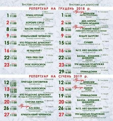Відвідайте казкові вистави Молодіжного театру м. Дніпро.