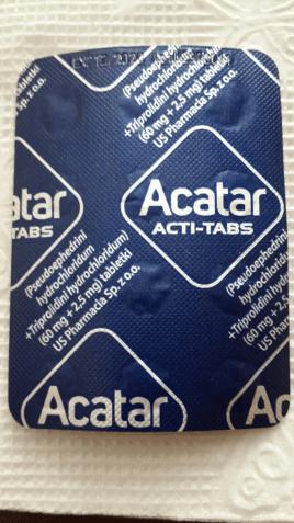 Acatar, Акатар таблетки от кашля