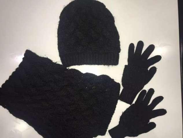 Тёплый женский набор комплект шапка шарф перчатки.
