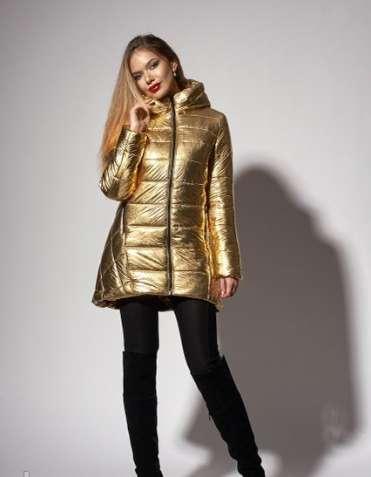 Зимняя женская молодежная куртка. код к-111-60-18. цвет золото