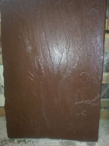 Каменная плита 900*600*30 мм. , натуральная , коричневый цвет