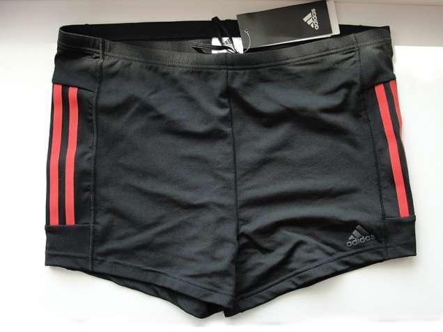 Плавки-боксеры Adidas INFINITEX+ (Черные с оранжевыми полосками)