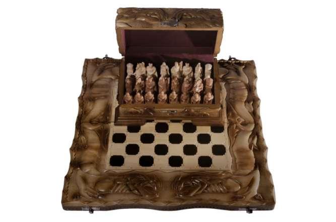 """Шахматный набор """"Эпоха Средневековья"""" 3 в 1 (шахматы, нарды, шашки)"""
