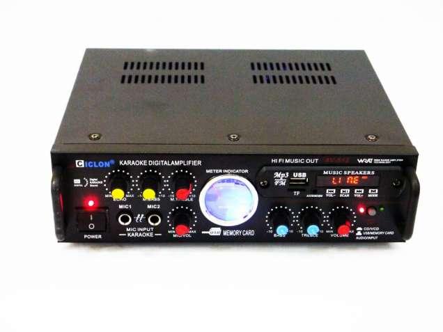 Усилитель звука Ciclon AV-512 + USB + КАРАОКЕ 2микрофона
