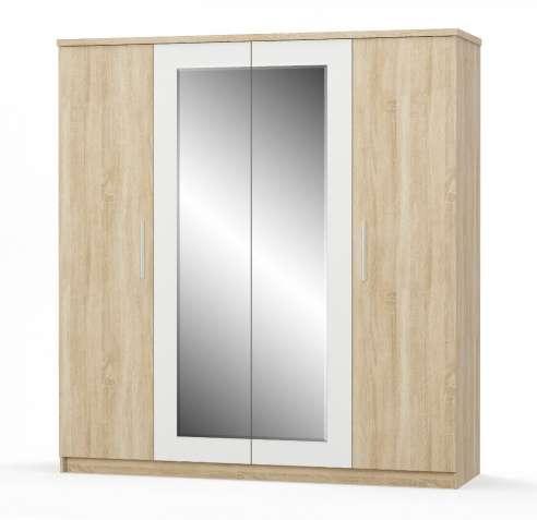 Четырехдверный шкаф Маркос. Мебель со склада по оптовым ценам