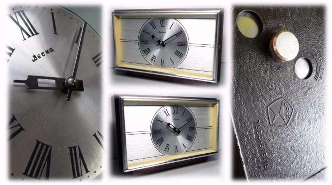 МЕХАНИЧЕСКИЕ часы «ВЕСНА», сделано в СССР 70-х. НАСТОЛЬНО - КАМИННЫЕ
