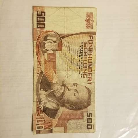 Продается 500 шилингов 1985 год Австрия