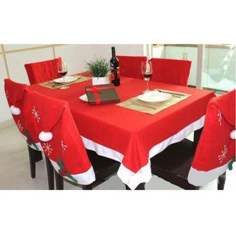 Рождественский набор для украшения стола (скатерть на Новый год)