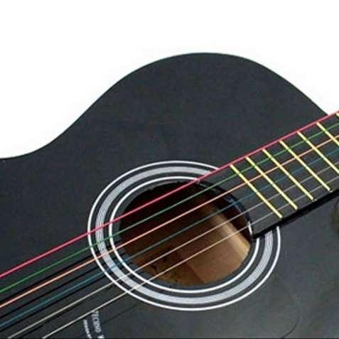 Струны для гитары разноцветные(новые) металлические