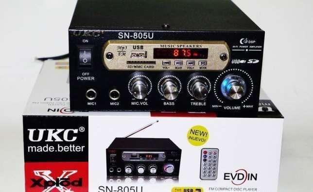 Усилитель звука UKC SN-805U - USB,SD,FM,MP3! 300W+300W Караоке