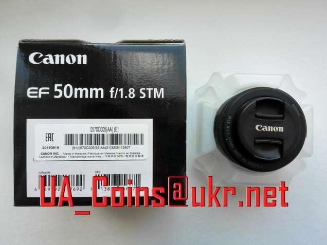 Портретный и макро светосильный объектив Canon EF 50 mm f/1.8 STM