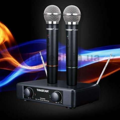 2шт Радиомикрофоны Takstar TS-2200 -новая радиосистема на 2 микрофона