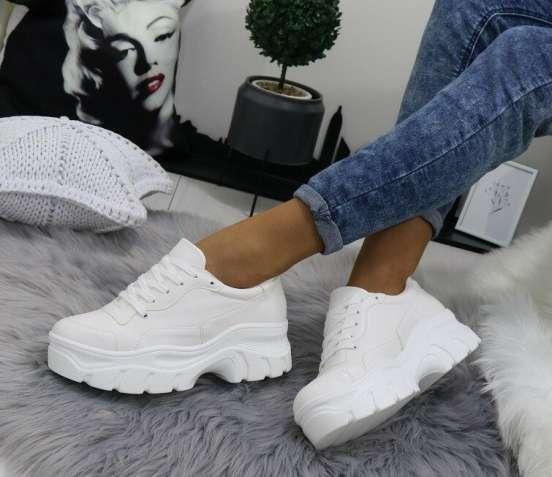 Белые женские кроссовки на платформе 36-40р