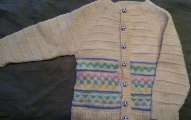 Продам кофту детскую вязаную теплую