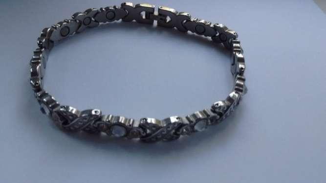 Браслет с неодимовые магнитами с камнями Сваровски Energetix 22,5 см
